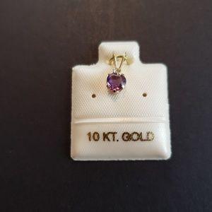 NWOT 10K  gold Amethyst Pendant